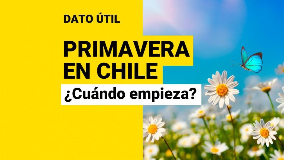 Cuándo empieza la primavera en Chile