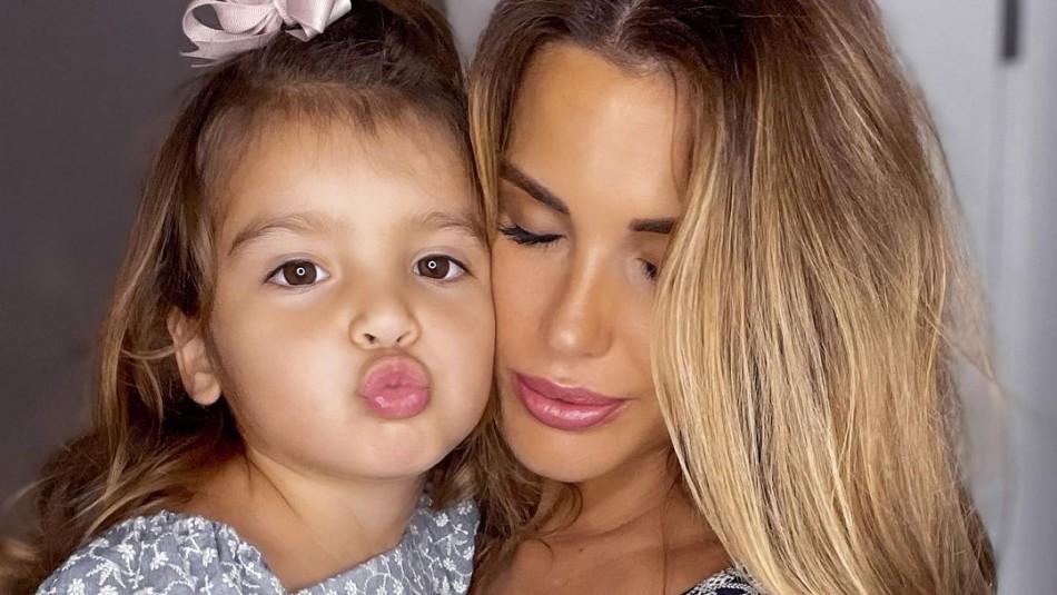 Gala Caldirola y su hija Luz Elif