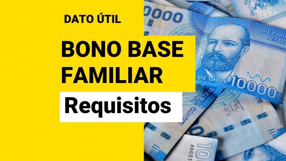 Bono Base Familiar: ¿Cuáles son los requisitos y cuánto dura el beneficio?