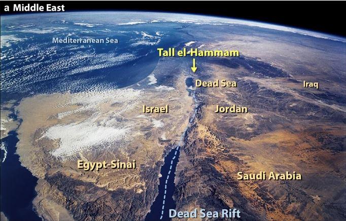 Ubicación satelital de la ciudad de Tall el-Hammam