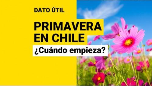 ¿Cuándo y a qué hora empieza la primavera en Chile?