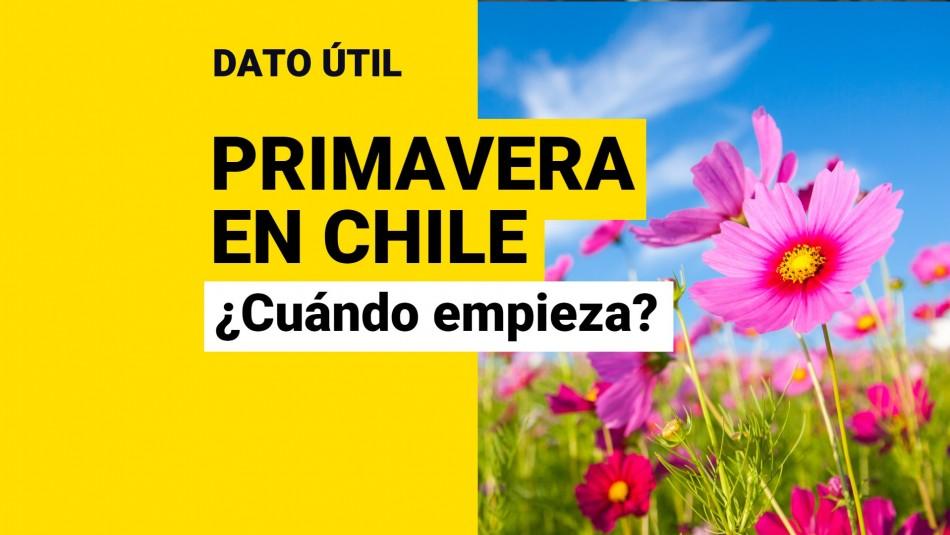 Cuándo empieza la primavera en Chile a que hora