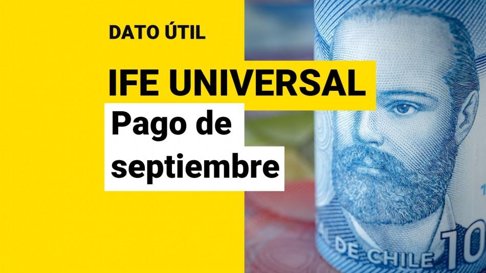 Fecha de pago ife universal septiembre