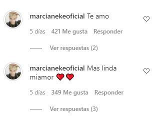 Comentarios de Marcianeke a su polola