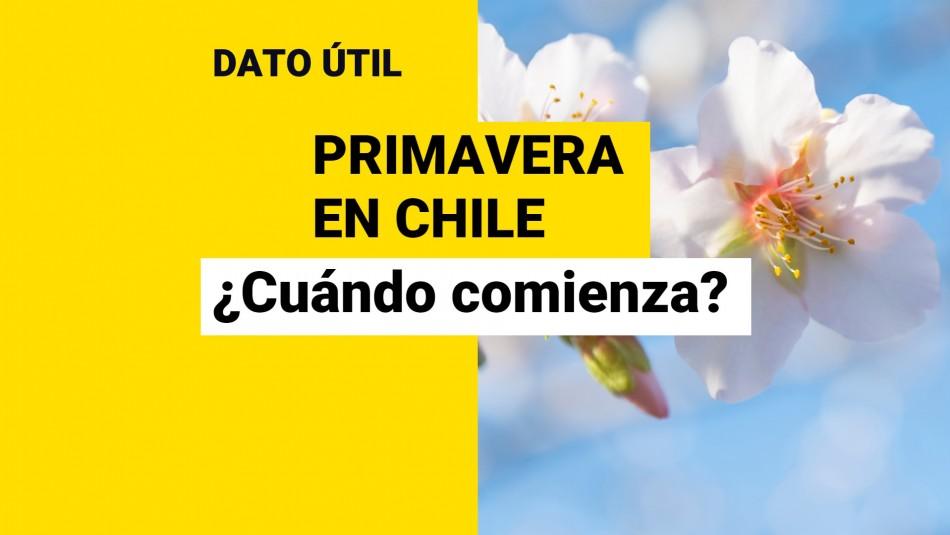 ¡Es hoy! ¿A qué hora comienza la primavera en Chile?
