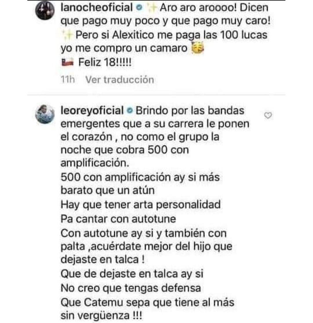 Comentarios de Leo Rey y La Noche