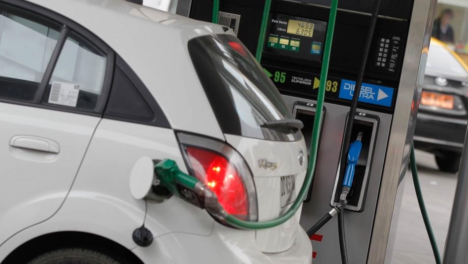Precio de las bencinas subirán nuevamente este jueves