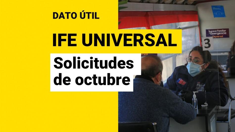 IFE Universal de octubre solicitudes