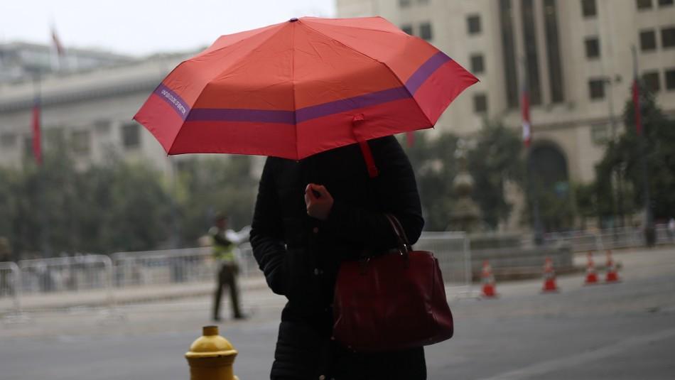 Lluvia en Santiago: revisa las comunas en que habrá precipitaciones y hasta qué hora