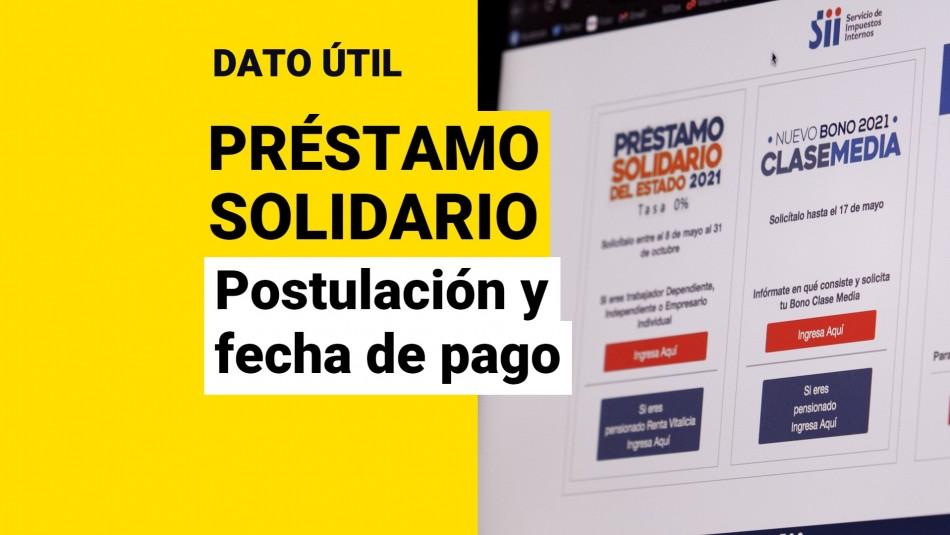 Postular préstamo solidario fecha de pago septiembre