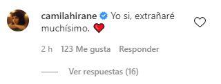 Comentario de Camila Hirane