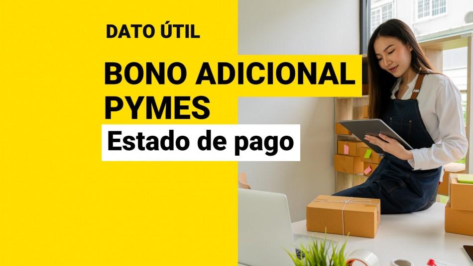 Bono Adicional IVA Pymes estado de pago
