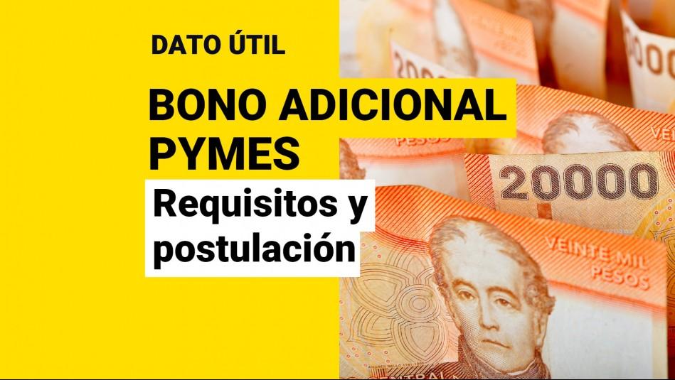 Bono Adicional IVA pymes requisitos
