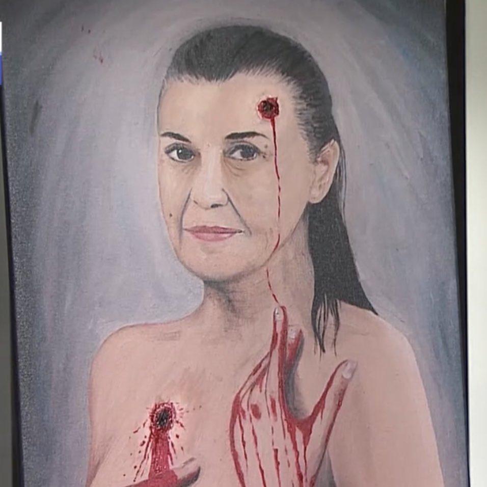 El retrato de Eliana pintado por Cristóbal