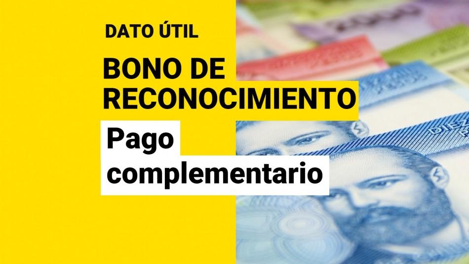 Bono de reconocimiento pago complementario