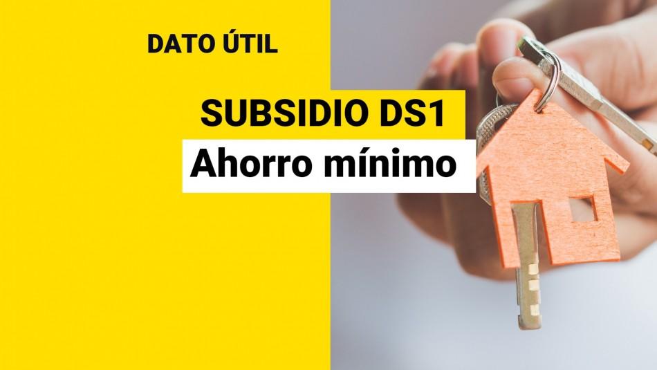 Subsidio DS1: ¿En qué fecha debo tener depositado el ahorro mínimo para postular en octubre?