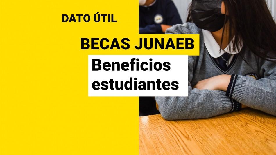 Becas Junaeb 2021: Cuáles son los beneficios y montos que reciben los estudiantes