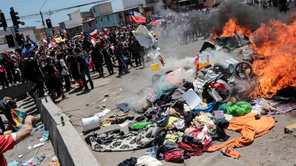 Inician campaña de ayuda para inmigrantes que perdieron sus pertenencias tras manifestaciones en Iquique