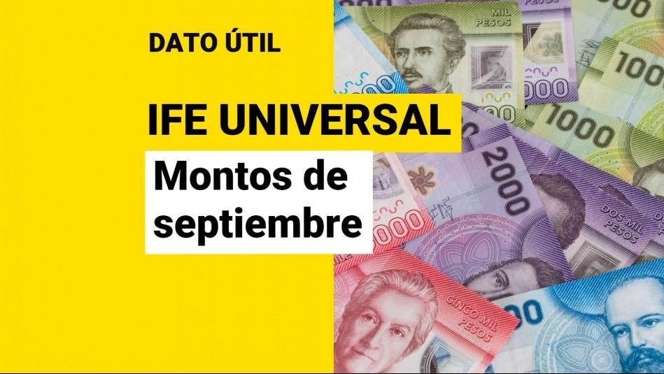 IFE Universal de septiembre: ¿Qué monto recibiré y cuándo se paga?