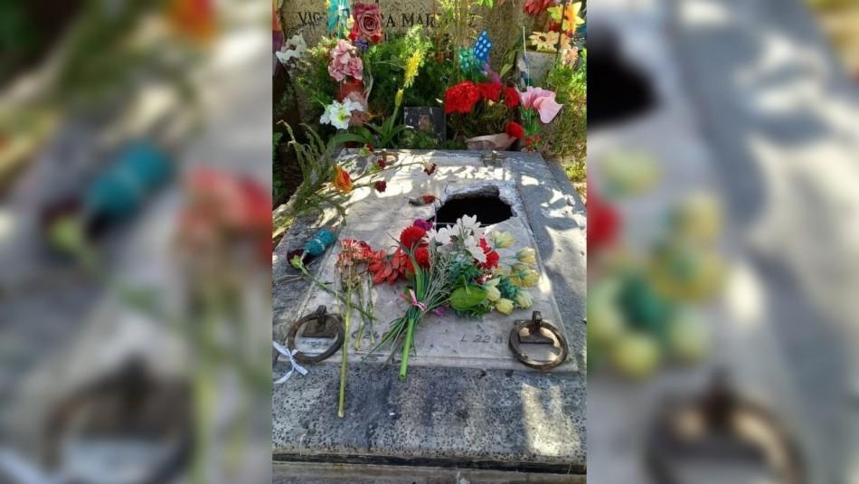 Denuncian que tumba de Víctor Jara fue vandalizada en el Cementerio General