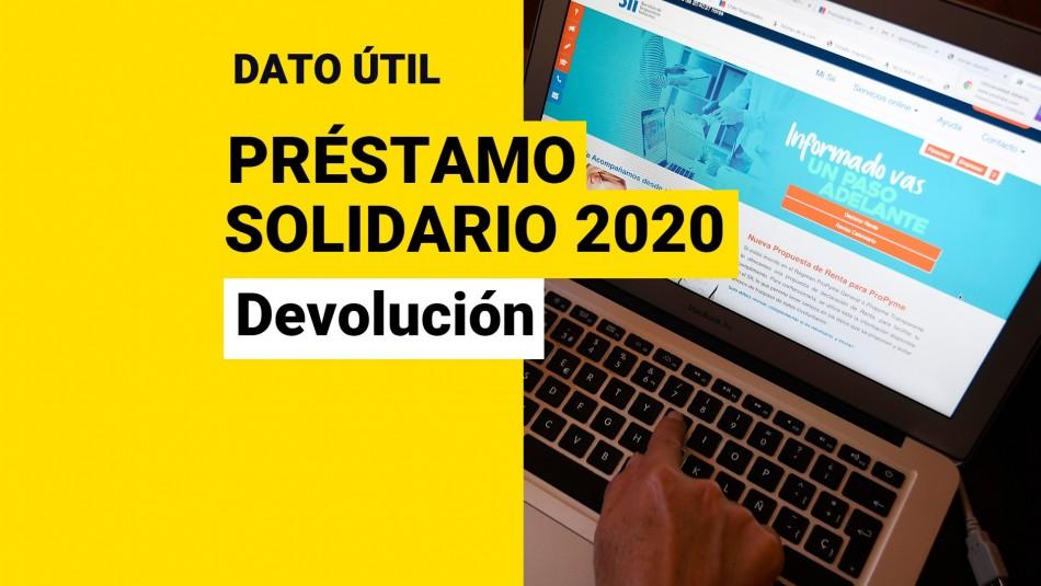 Devolución Préstamo Solidario 2020