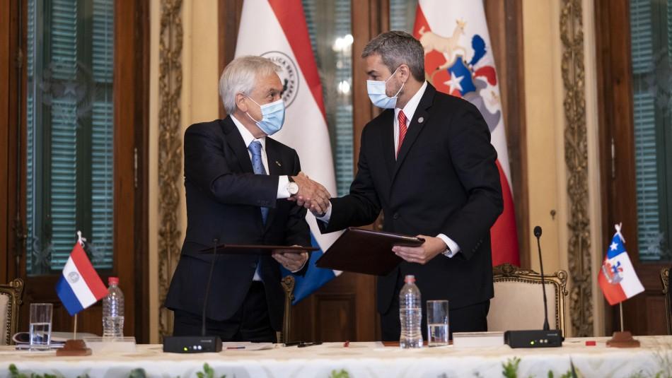 Presidente Piñera anuncia donación de 100 mil vacunas contra el coronavirus a Paraguay