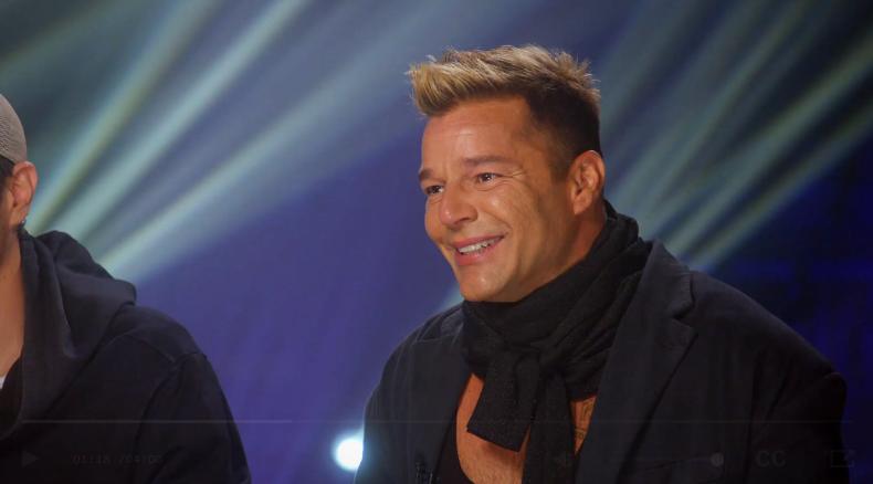 Ricky Martin durante la entrevista