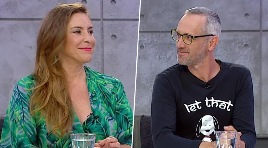 Paty López y su marido en Mucho Gusto