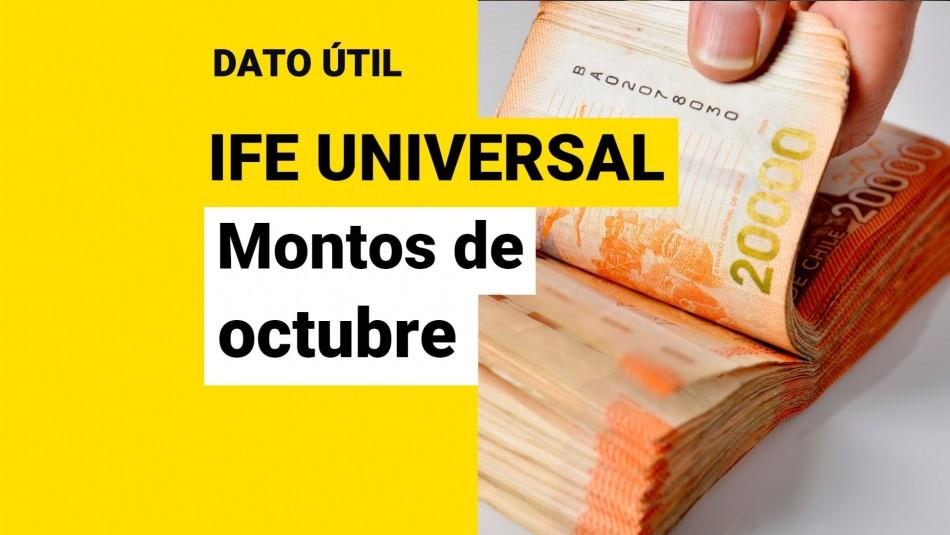 IFE Universal de octubre: ¿Cuánto dinero recibirá mi familia?