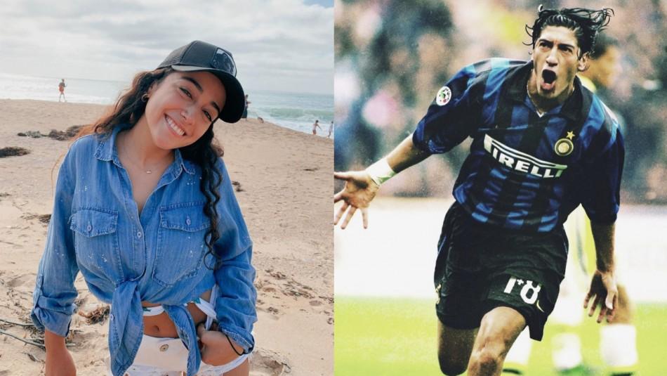 Ella es Gabriela Flores, la bebé que Iván Zamorano homenajeaba cada vez que hacía un gol