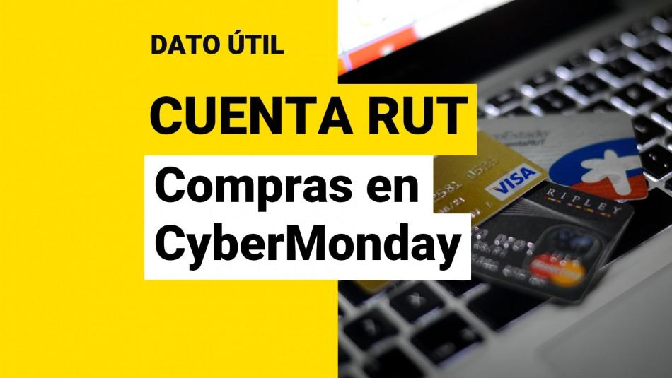 Monto máximo para comprar Cuenta RUT CyberMonday