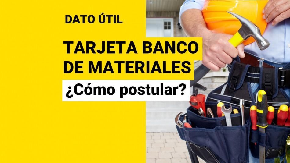 Tarjeta Banco de Materiales minvu 2021