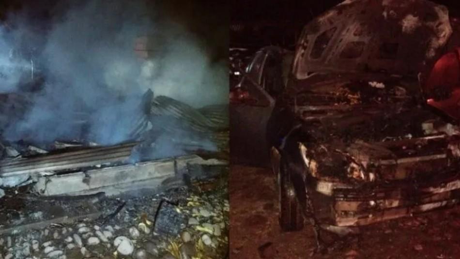 Pretendían espantar enjambre de abejas con fuego pero terminaron incendiando la casa y dos vehículos
