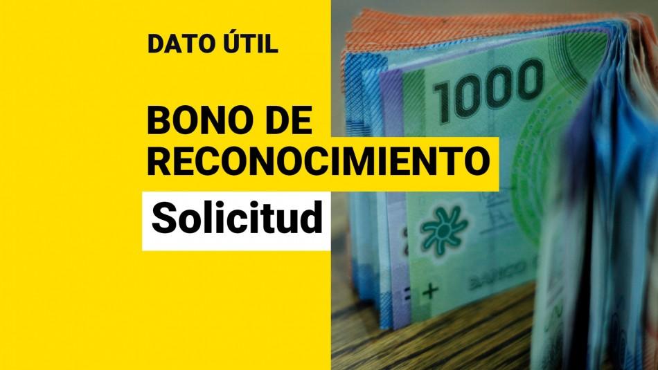 Bono de Reconocimiento: ¿Cómo se solicita el beneficio y quiénes pueden recibirlo?