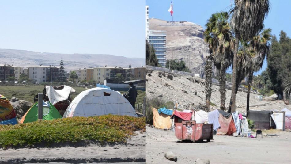Instalan campamento migrante en Arica: