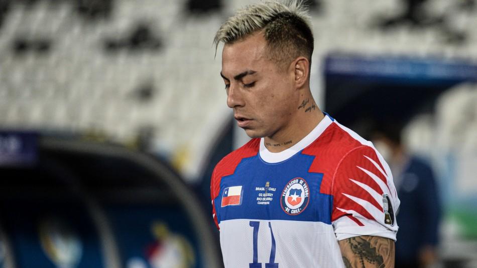Confirman baja de Eduardo Vargas en La Roja de cara a la triple fecha clasificatoria