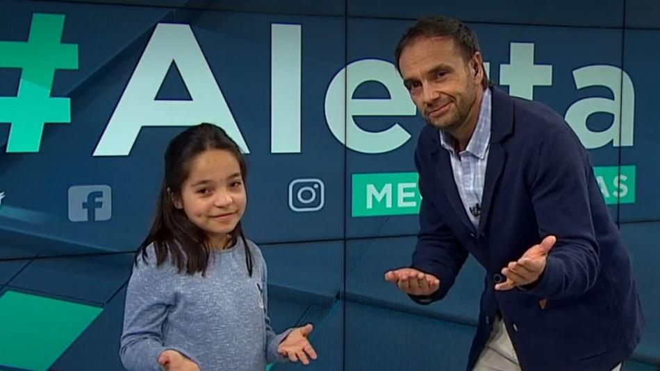 Cocinera y bailarina: Niña de 10 años sorprende a Rodrigo Sepúlveda en pleno noticiero