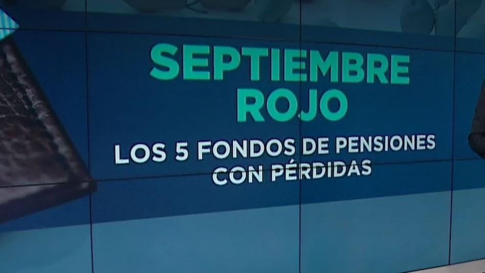 Fondos de pensiones: revisa cuánto cayó la rentabilidad de cada uno durante septiembre