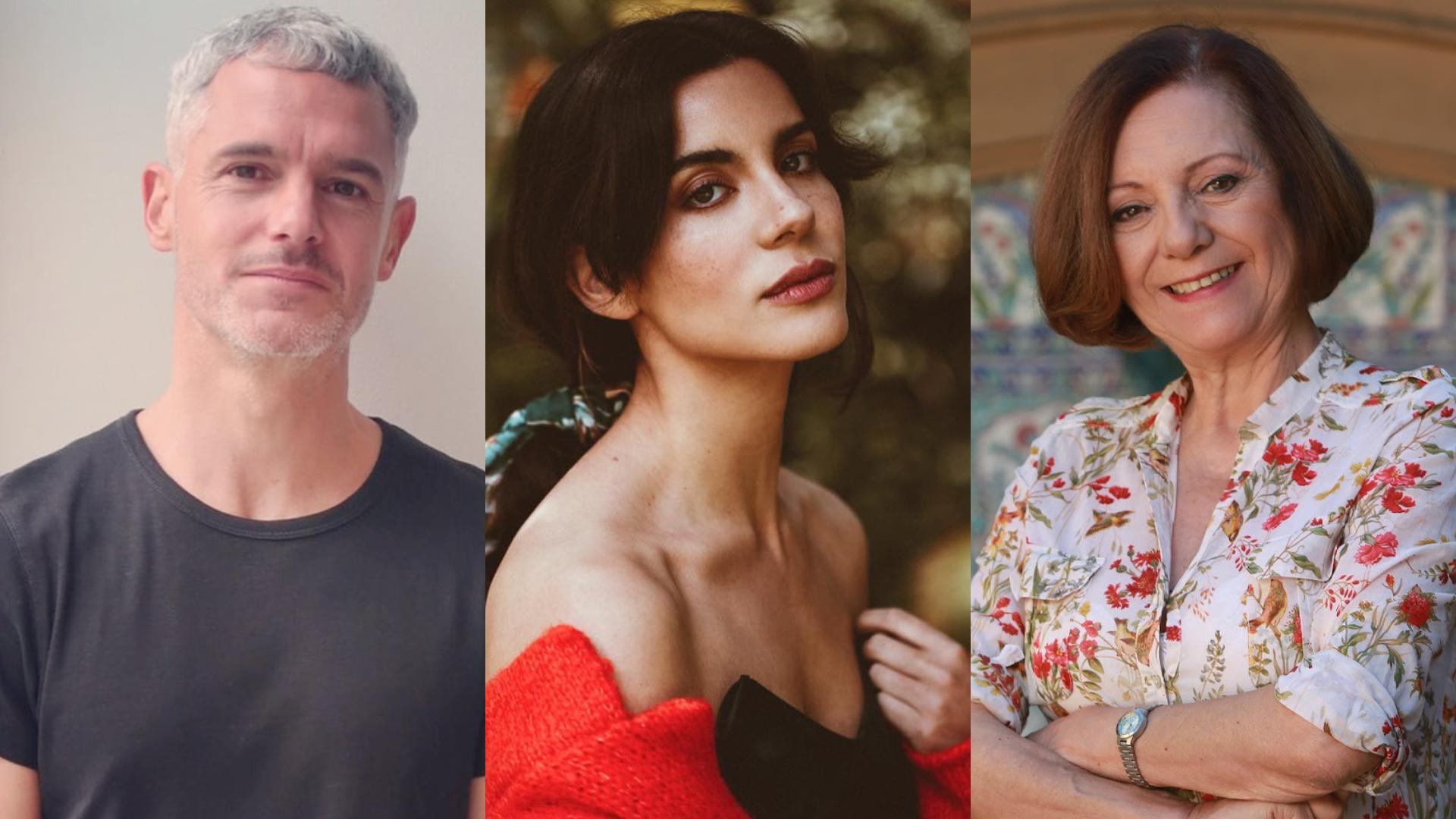 Ricardo Fernández, Susana Hidalgo y María Elena Duvauchelle