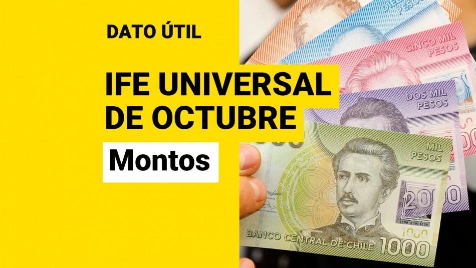 Montos IFE Universal de octubre