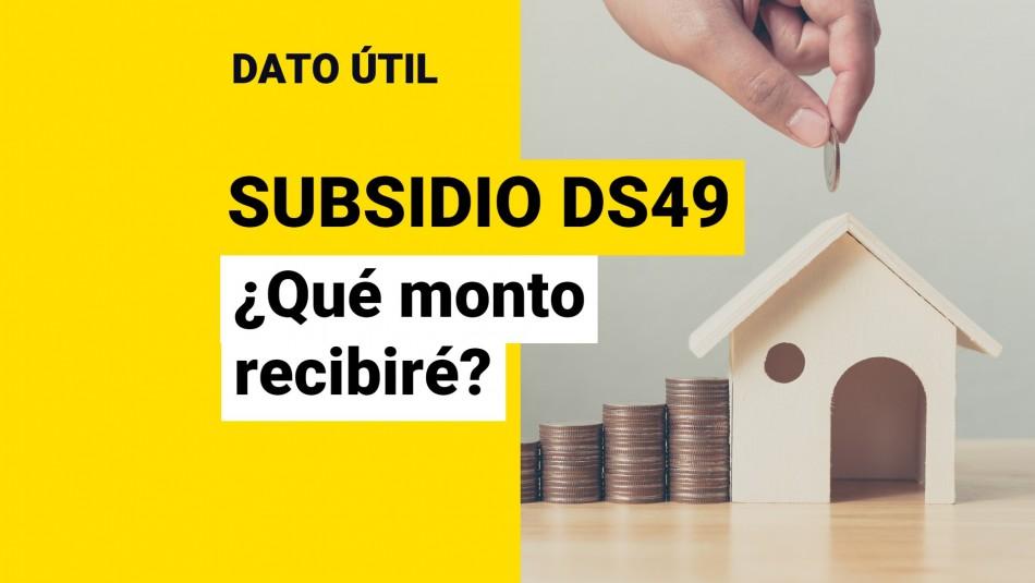 Subsidio DS49 montos fecha de postulación