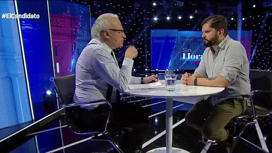[VIDEO] El tenso momento que vivió Gabriel Boric ante preguntas de Tomás Mosciatti sobre cifras económicas del país