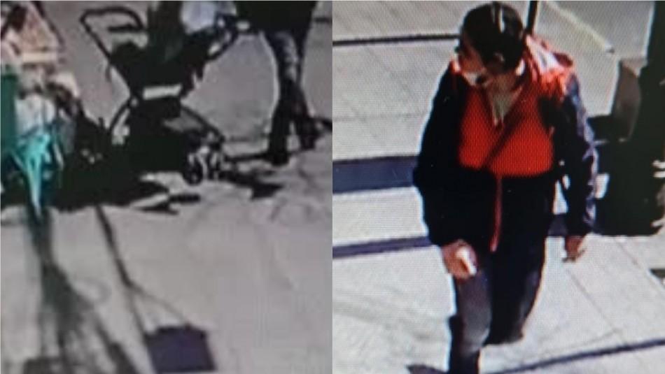 Video muestra a hombre pateando un coche que transportaba a un bebé de 7 meses