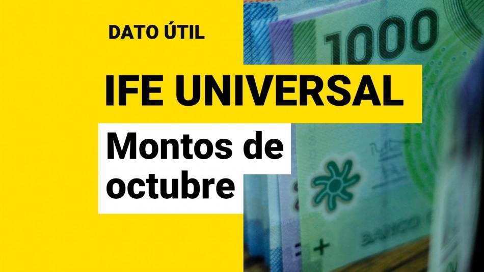 IFE Universal de octubre: ¿Cuál es el monto que recibiré por el beneficio?