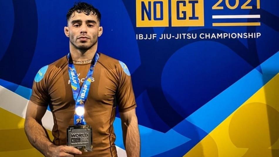 Chileno Nicolás Ponce se consagró vice campeón en torneo mundial de JIUJITSU (IBJJ)