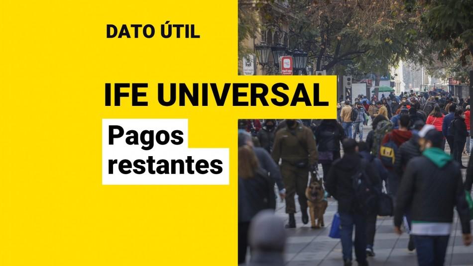 Cuantos pagos quedan del IFE Universal
