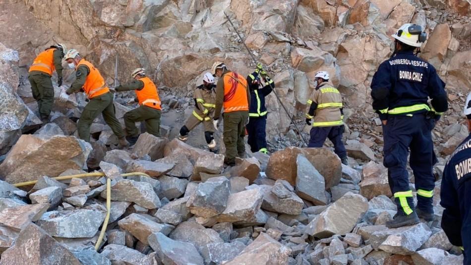 Trabajador muere producto del desprendimiento de rocas en una cantera en Copiapó