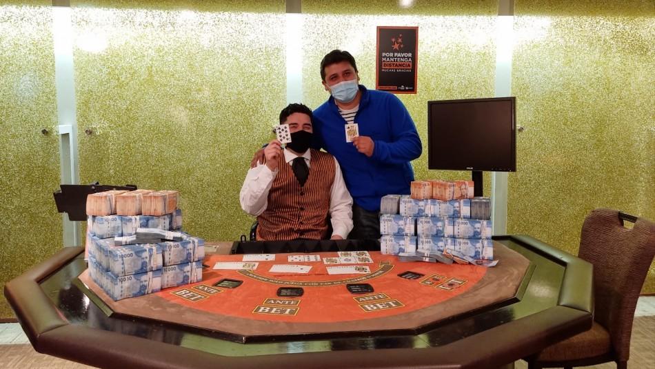 Afortunado ganó $314 millones en casino de Antofagasta: