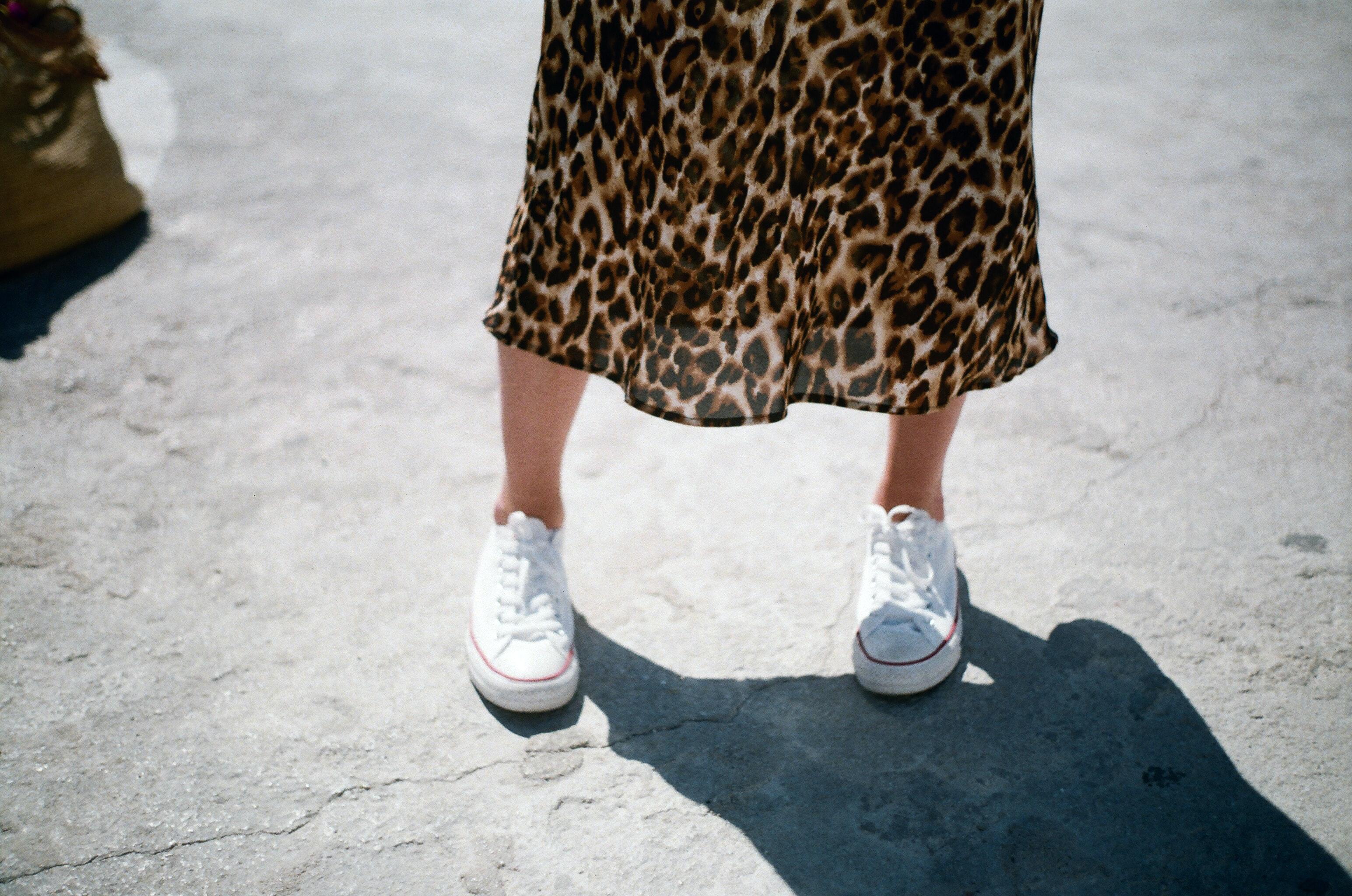 Zapatillas de lona blanca