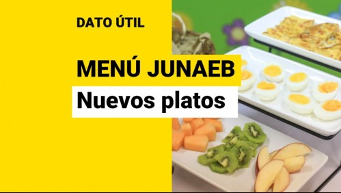 Junaeb modifica su menú: Cuáles son los cambios y qué platos nuevos se entregarán